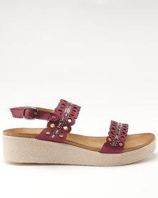 Butterfly Feet Silvia Burgundy