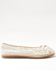 Butterfly Feet Ange Pump White