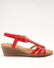 Butterfly Feet Picasso Red