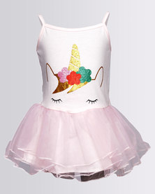 Bugsy Boo Unicorn Tulle Dress Pink