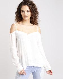 Sissy Boy Cold Shoulder Shirt Off White