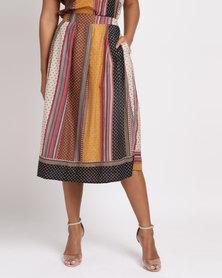 Jenja Stripe Pleat Skirt Multi