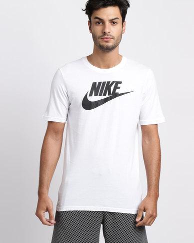 a13838452f12 Nike Men s Sportswear Futura Icon T-Shirt White
