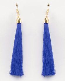 Lily & Rose Tassel Drop Earrings Blue
