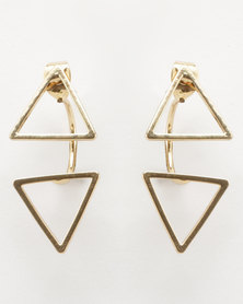 Lily & Rose Triangle Fashion Earrings Gold-tone
