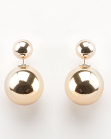 Lily & Rose Back to Back Earrings Gold-tone