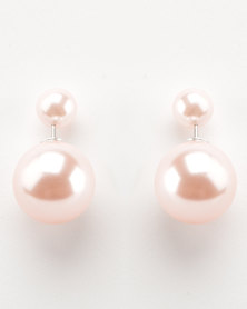 Lily & Rose Back To Back Earrings Pink