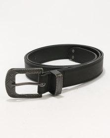 New Look Western Buckle Belt Black