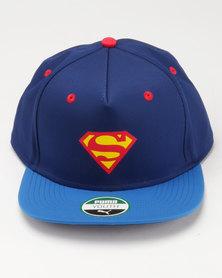 Puma Justice League Flatbrim Cap Blue