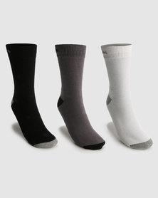 Champion 3 Pack Crew Socks Multi