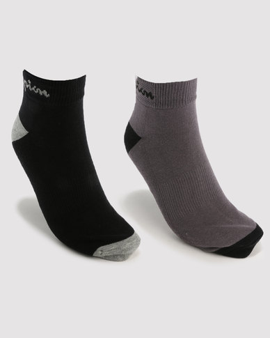 Champion 2 Pack Ankle Socks Multi