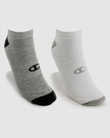 Champion 2 Pack No Show Socks Multi