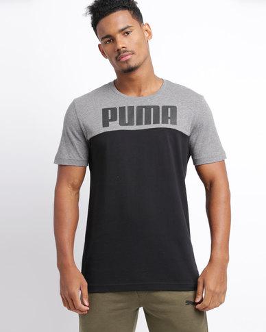 ddc19d35a127 Puma Rebel Block Tee Black