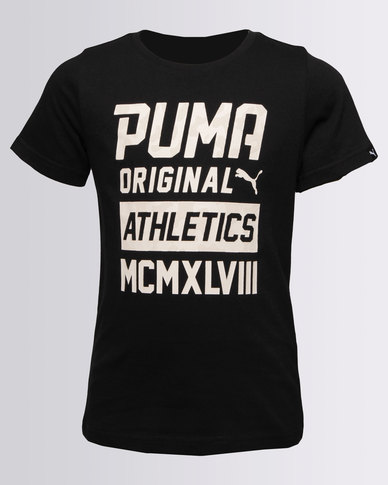 8acc16533dce Puma Boys Style Graphic Tee Black