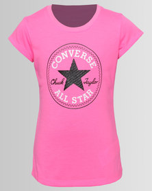 Converse Chuck Patch Tee Pink