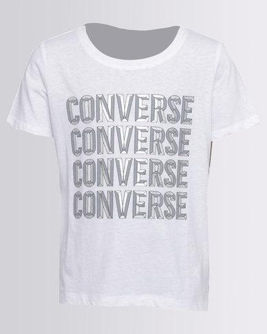 Converse Beveled Converse Tee White
