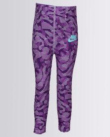 Nike Girls Nike Sportswear AOP ML Tights Purple