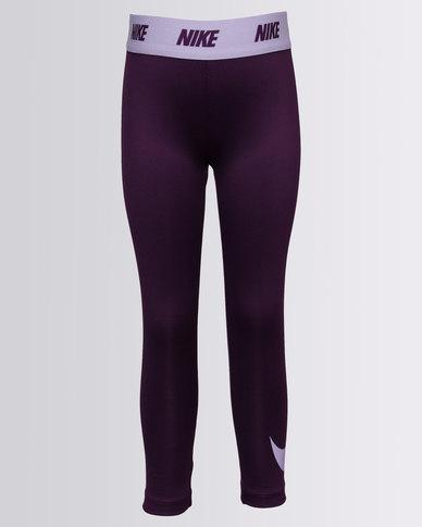 de4202a7763efd Nike Girls Dri-Fit Sport Essentials Swoosh Leggings Purple | Zando