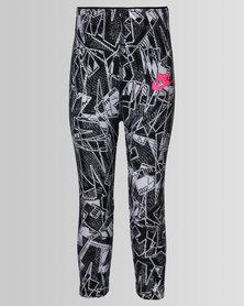 Nike Girls Club AOP Leggings Black