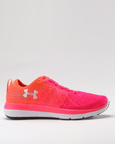finest selection 1e5aa 5315e Under Armour Women's Threadborne Fortis 3 Running Shoes Penta Pink