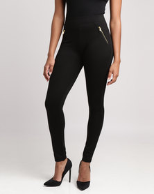 New Look Zip Pocket Leggings Black
