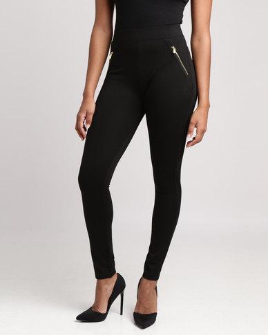 New Look Zip Pocket Leggings Black