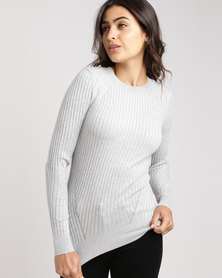 New Look Ribbed Jumper Grey