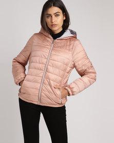 New Look Lightweight Puffer Jacket Pink