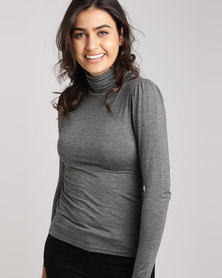 New Look Roll Neck Top Grey