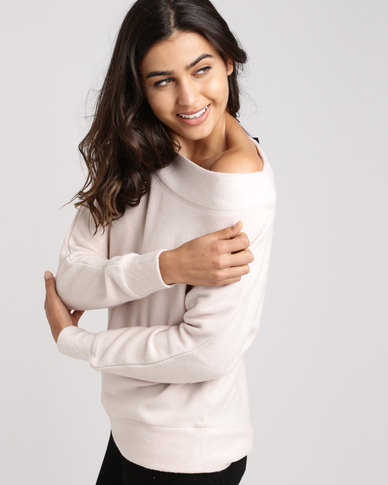 New Look Bardot Neck Jumper Cream