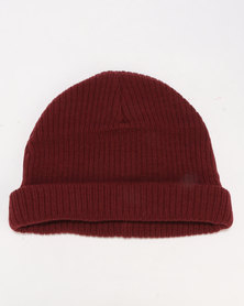 New Look Docker Beanie Dark Burgundy