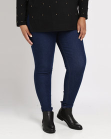 New Look Curves High Waist Skinny Jeans Blue
