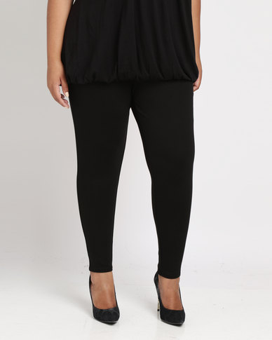 New Look Curves Zip Pocket Leggings Black