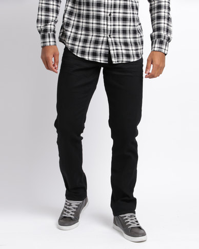 New Look Straight Fit Jeans Black
