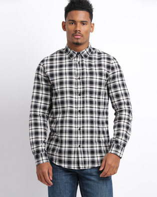 New Look Collared Shirt Monochrome Check