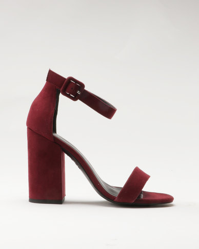 New Look RICHES - High heeled sandals - dark red