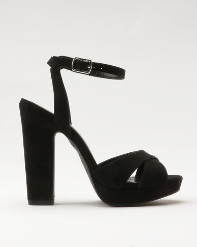 New Look Suzie Strap Platform Heels Black