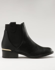 New Look Darlington PU Chelsea Boot Black