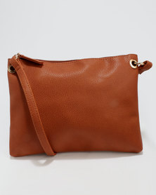 New Look Ring Side Crossbody Bag Tan
