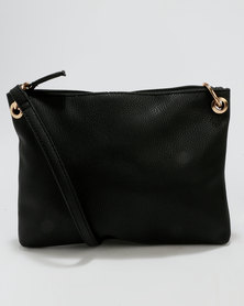 New Look Ring Side Crossbody Bag Black