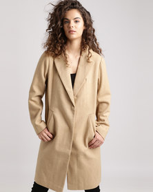 New Look Revere Collar Jacket Stone