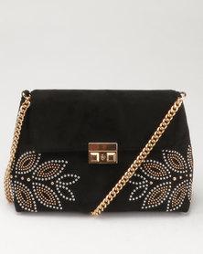 New Look Stud Embellished Cross Body Bag Black