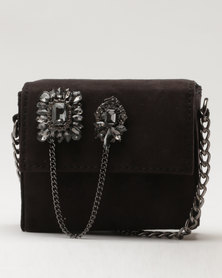 New Look Embellished Micro Cross Body Bag Black