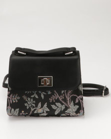 New Look Baroque Embroidered Cross Body Black