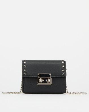 New Look Cross Body Studded Micro Bag Black
