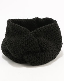 New Look Knot Headband Black