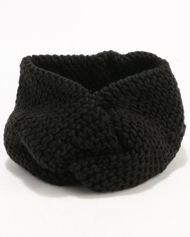 New Look Knot Headband Black