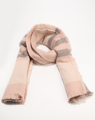 New Look Check Scarf Pink
