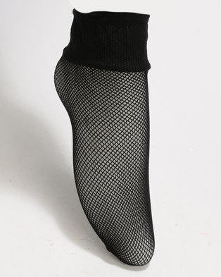 New Look Fishnet Socks Black
