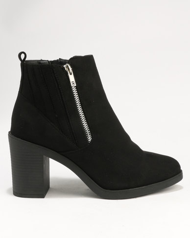 New Look Wide Fit WIDE FIT DOODLE - High heeled ankle boots - black QABG0WM